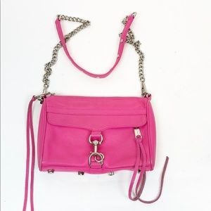 Rebecca Minkoff Mini Mac Crossbody Handbag pink